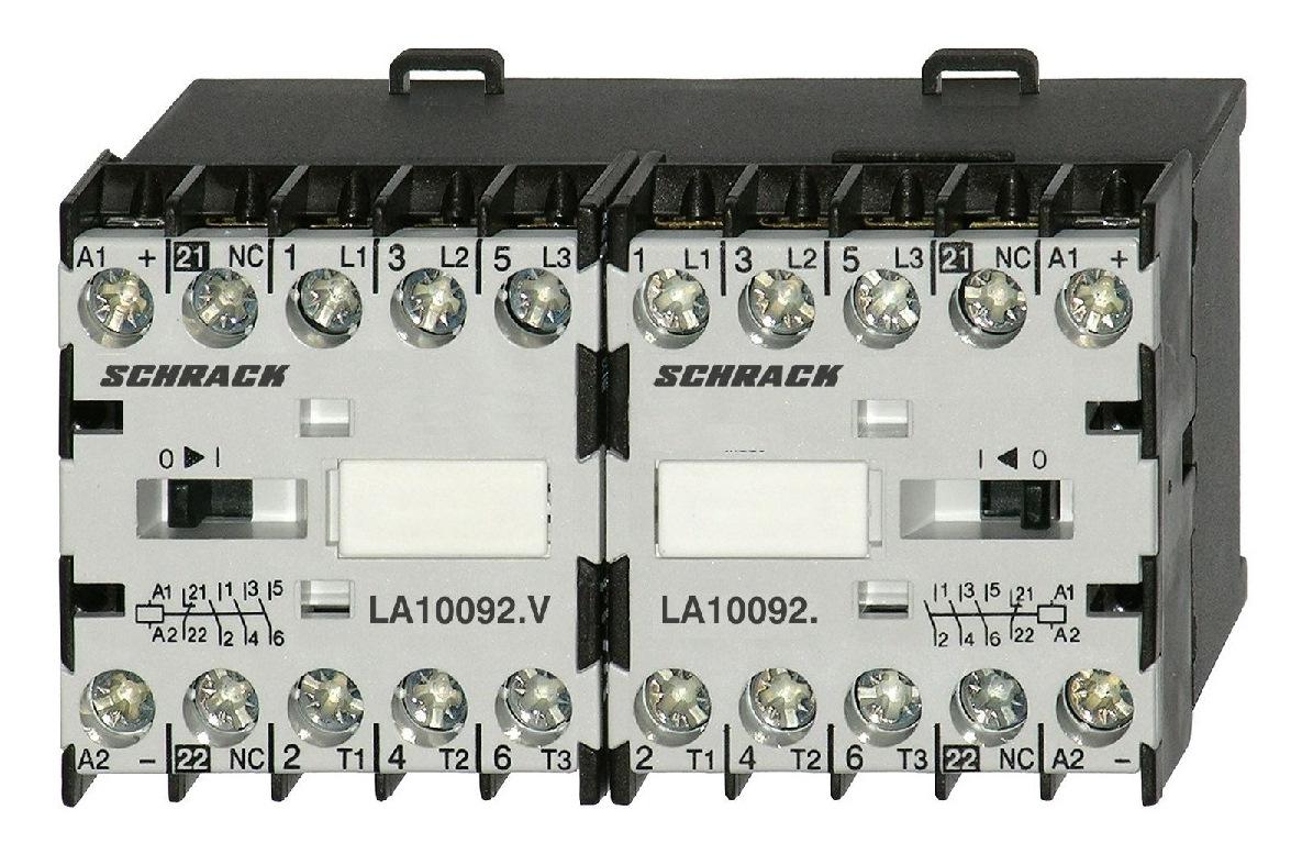 Ansambluri de contactoare inversoare de sens cu interbocaj mecanic seria LA.W18080
