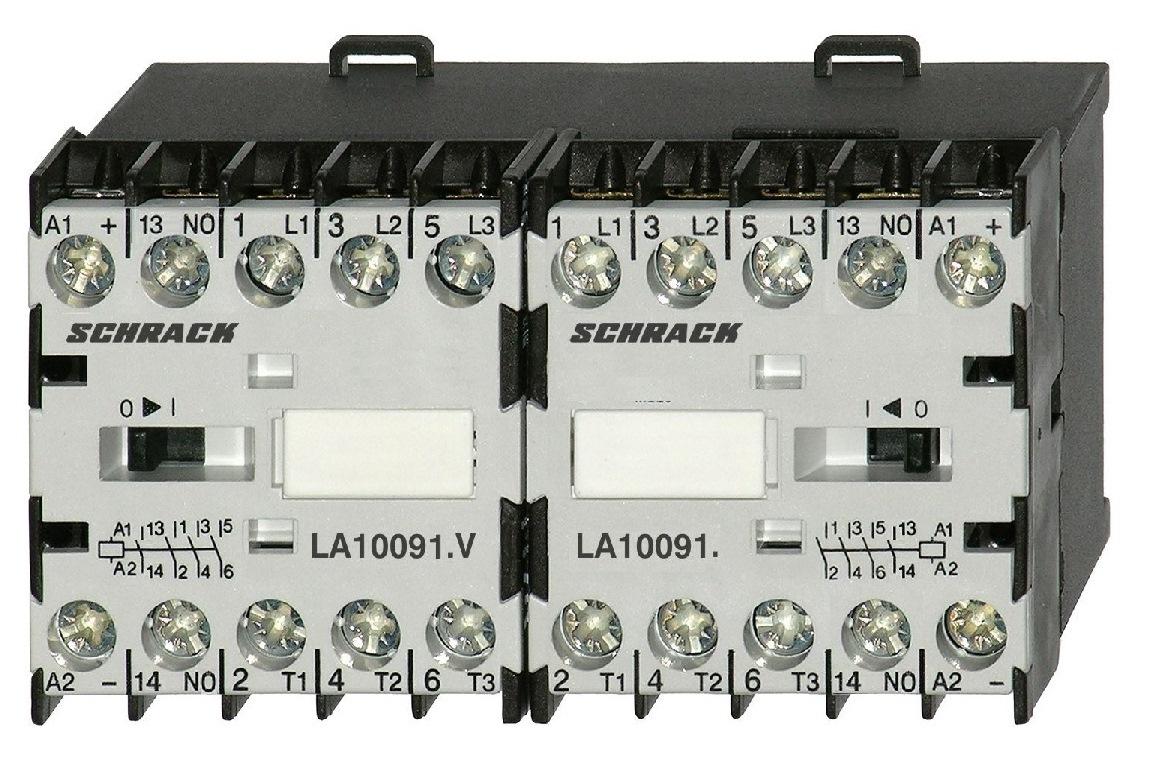 Ansambluri de contactoare inversoare de sens cu interbocaj mecanic seria LA.W18121