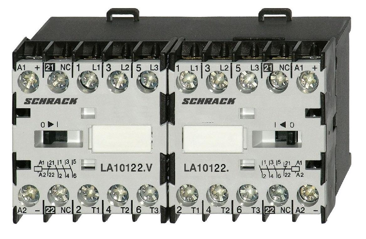 Ansambluri de contactoare inversoare de sens cu interbocaj mecanic seria LA.W18122