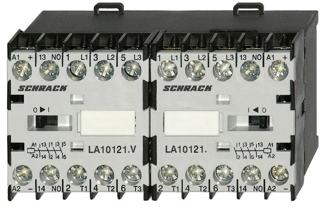 Ansambluri de contactoare inversoare de sens cu interbocaj mecanic seria LA.W18173