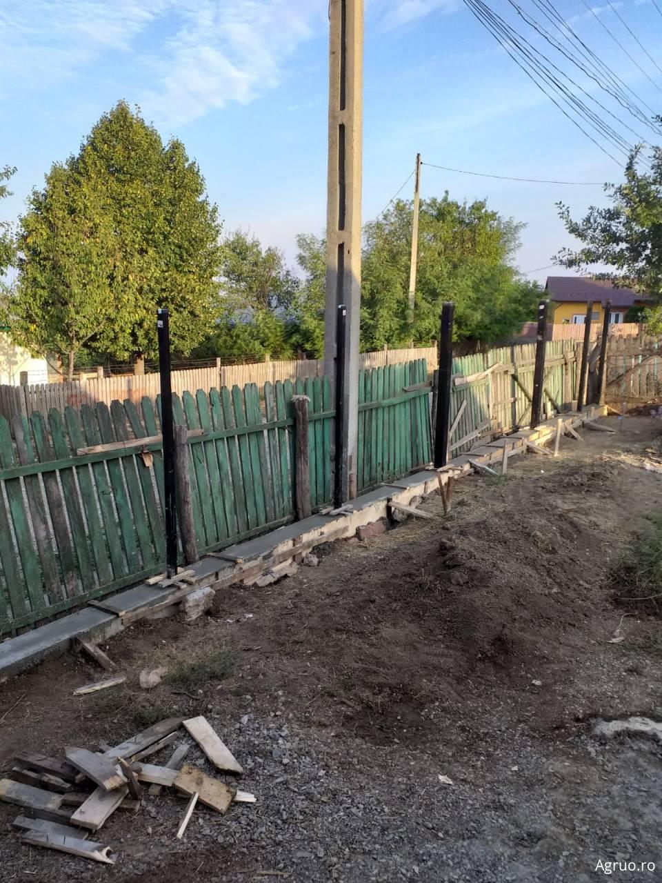 Imprejmuire gard - sapatura, cofraj, armatura, beton, panou metalic/lemn5912
