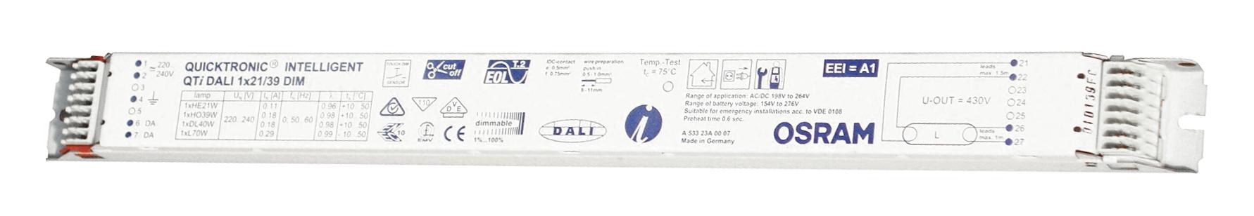 Balasturi electronice dimabil Dali, gama OSRAM23900