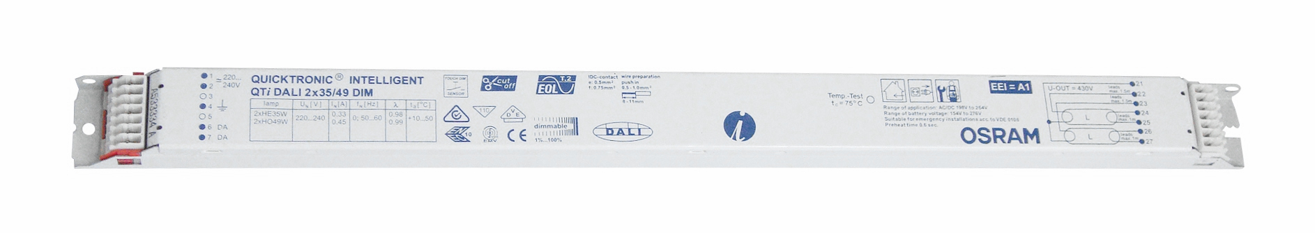 Balasturi electronice dimabil Dali, gama OSRAM23918