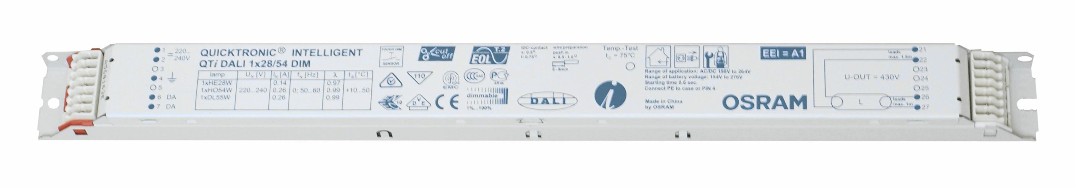 Balasturi electronice dimabil Dali, gama OSRAM23955