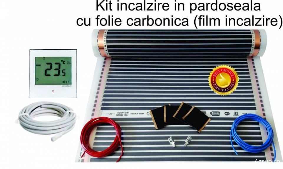 Kit incalzire pardoseala cu film incalzire + termostat digital6395