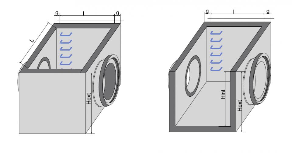 Cămin rectangular CRE Di 190/150/190/20 6721