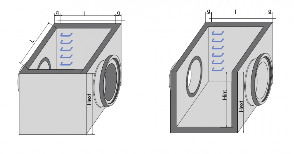 Cămin rectangular CRE Di 250/150/250/20 6724