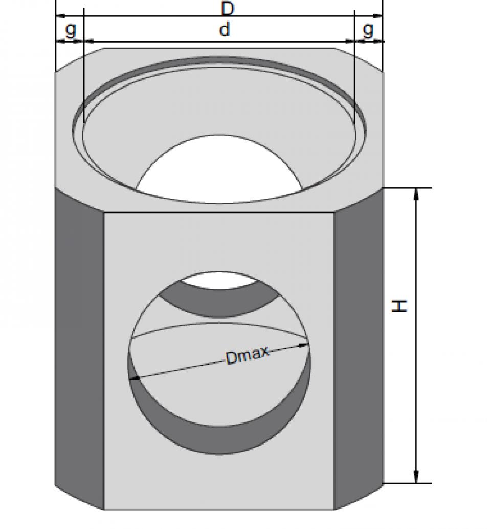 Radier pentru cămine CR 120/125/15-30 6836