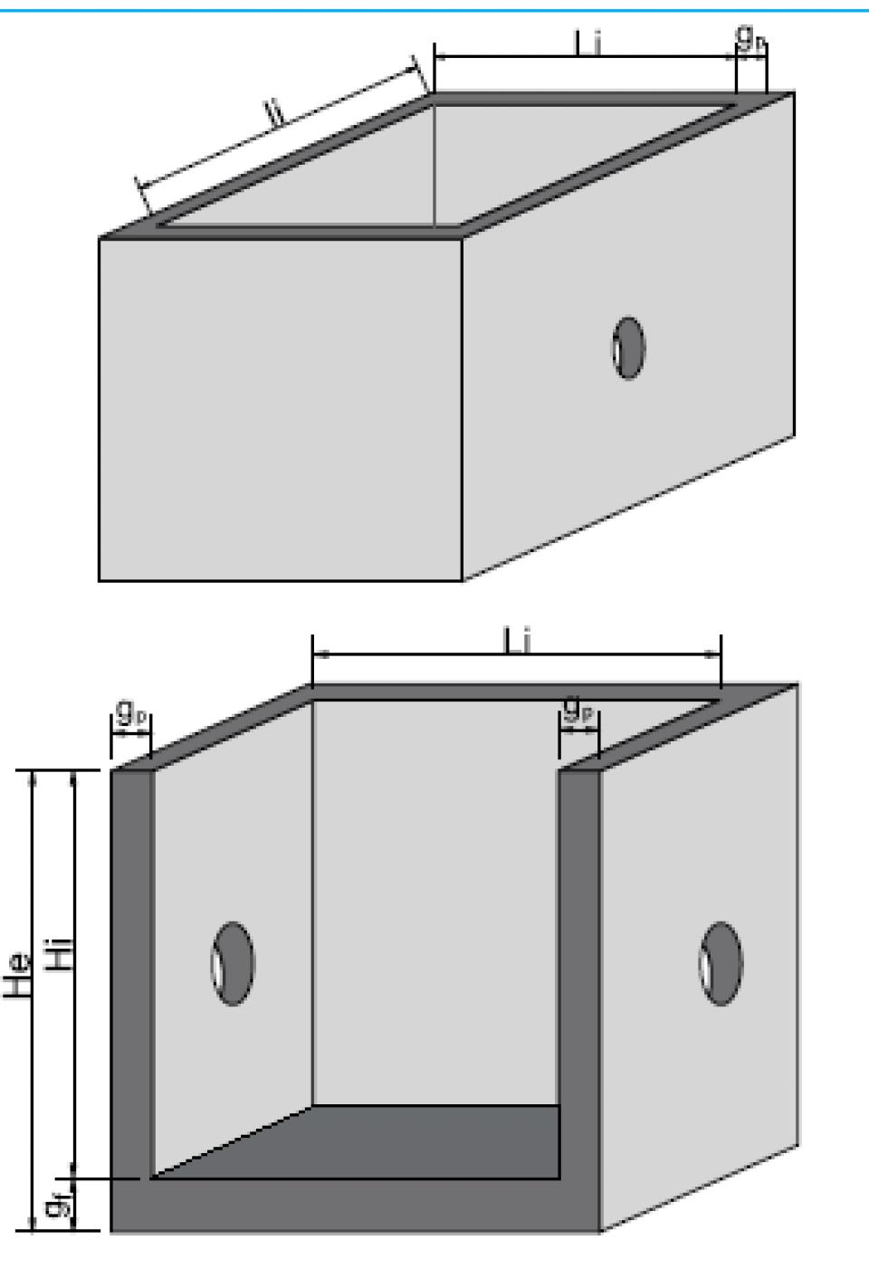 Bazin rectangular BR Di 200/200/200/15 6854