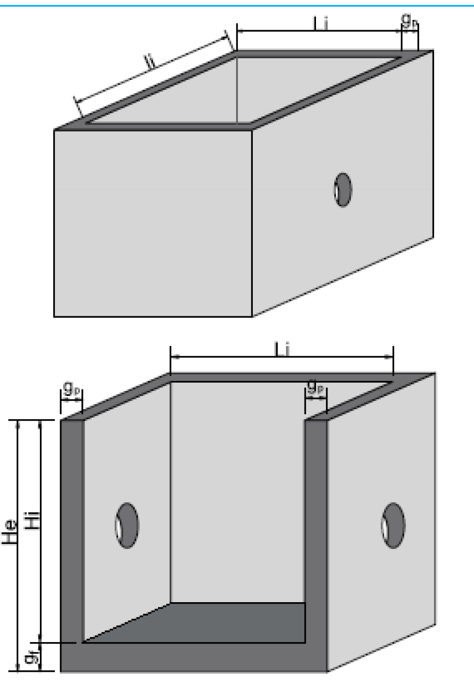 Bazin rectangular BR Di 400/200/250/20 6858