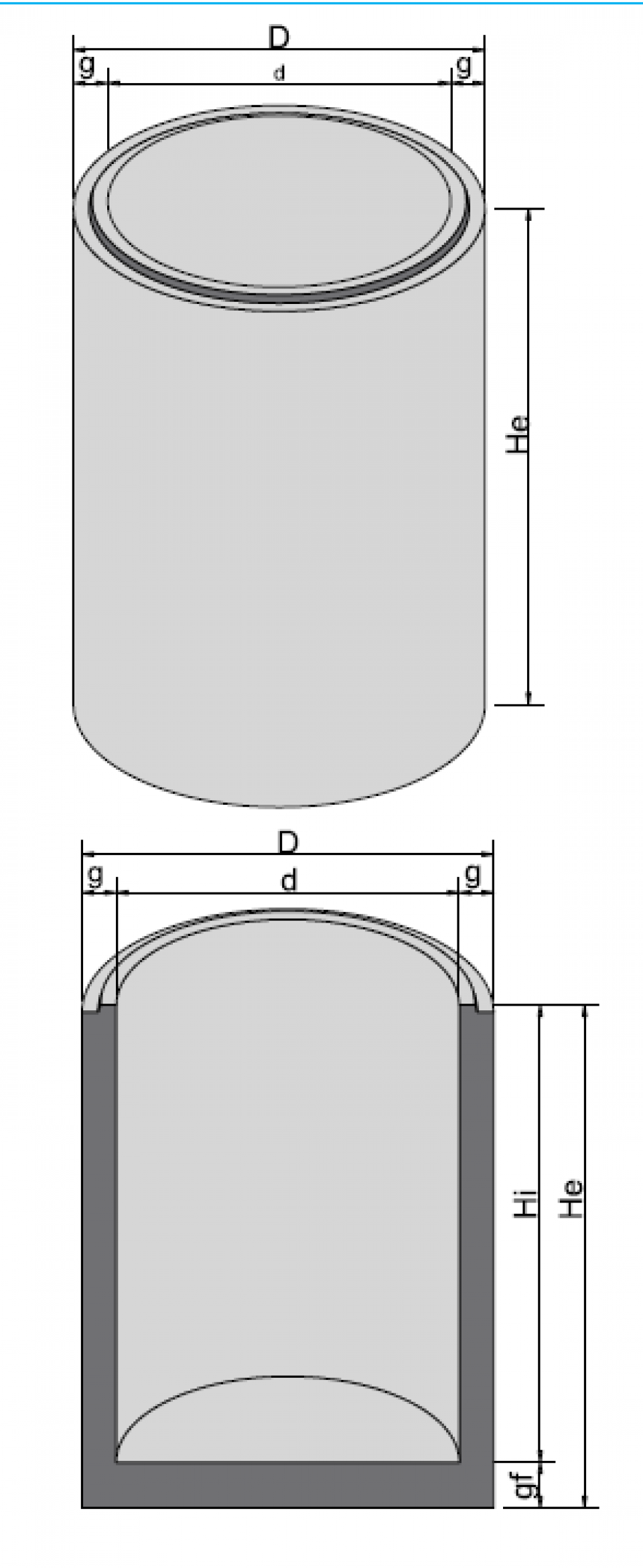 Bazin cilindric BC DN250/150/15 6887