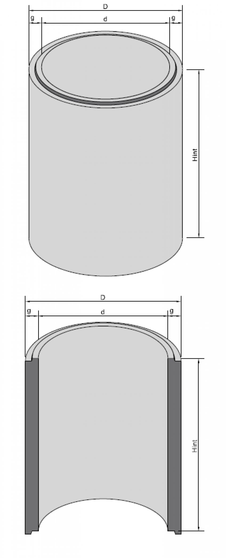 Inel bazin IB DN100/50/15 6905