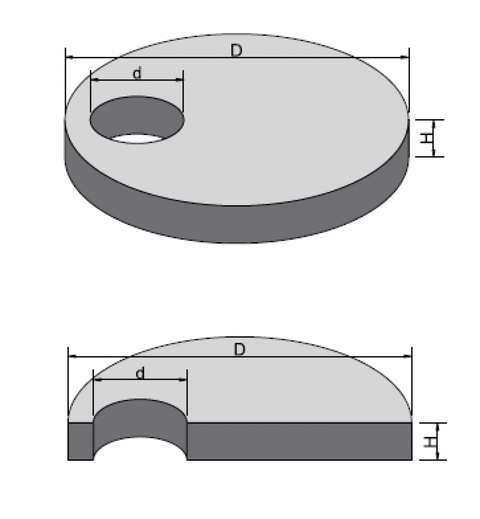 Placă carosabilă bazin PCB D280/25 6937