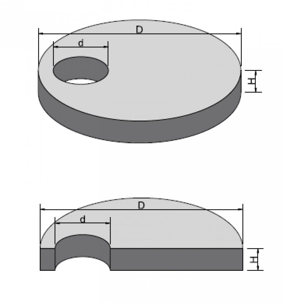 Placă necarosabilă bazin PNB D150/20 6940