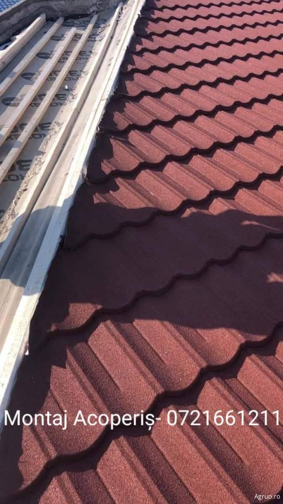 Montaj sistem complet de acoperis din tigla ceramica840