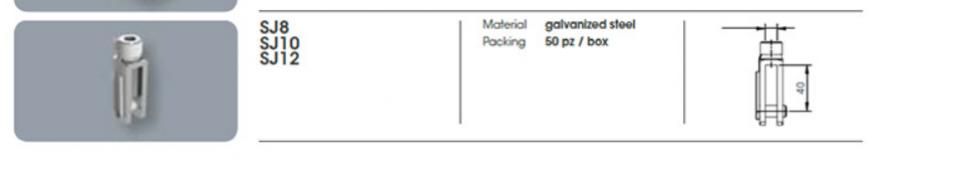 Profile tip T si Ω pentru fixare tavane suspendate42006