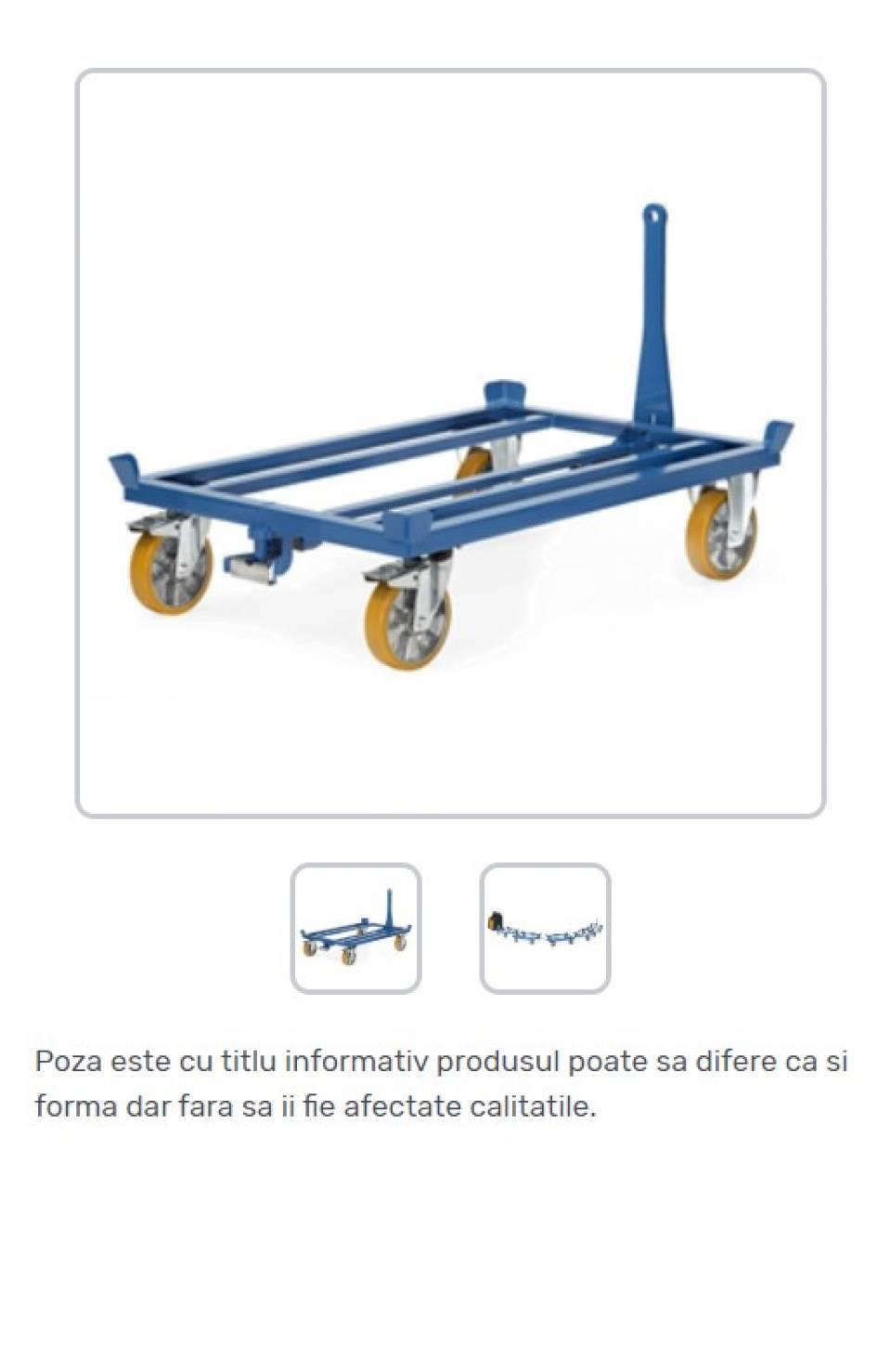 Carucioare pentru paleti EUR 1 cu sistem de tractare42176