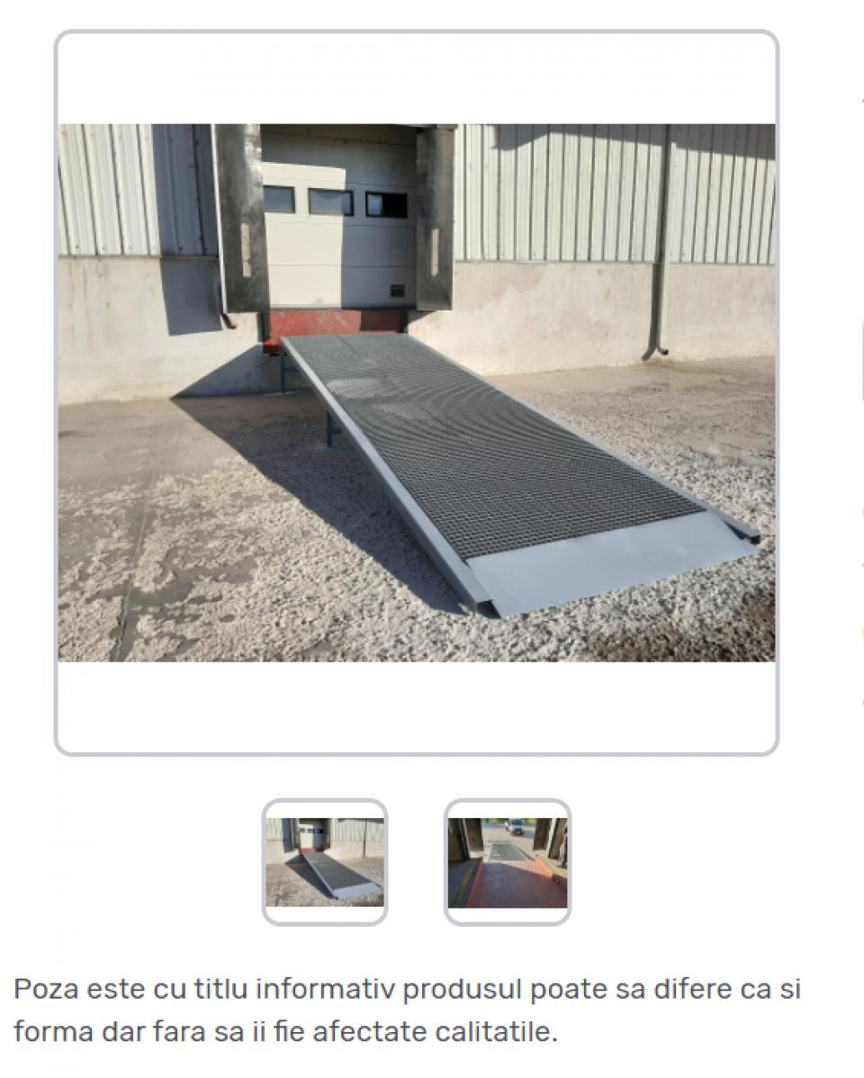 Rampa metalica pentru acces in depozit42282
