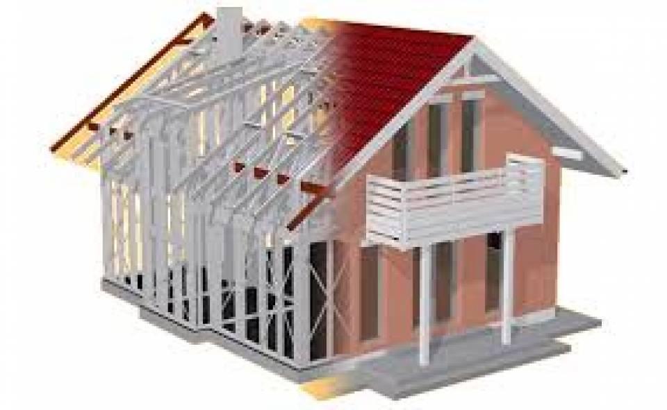 Casa pe structura metalica la alb42286