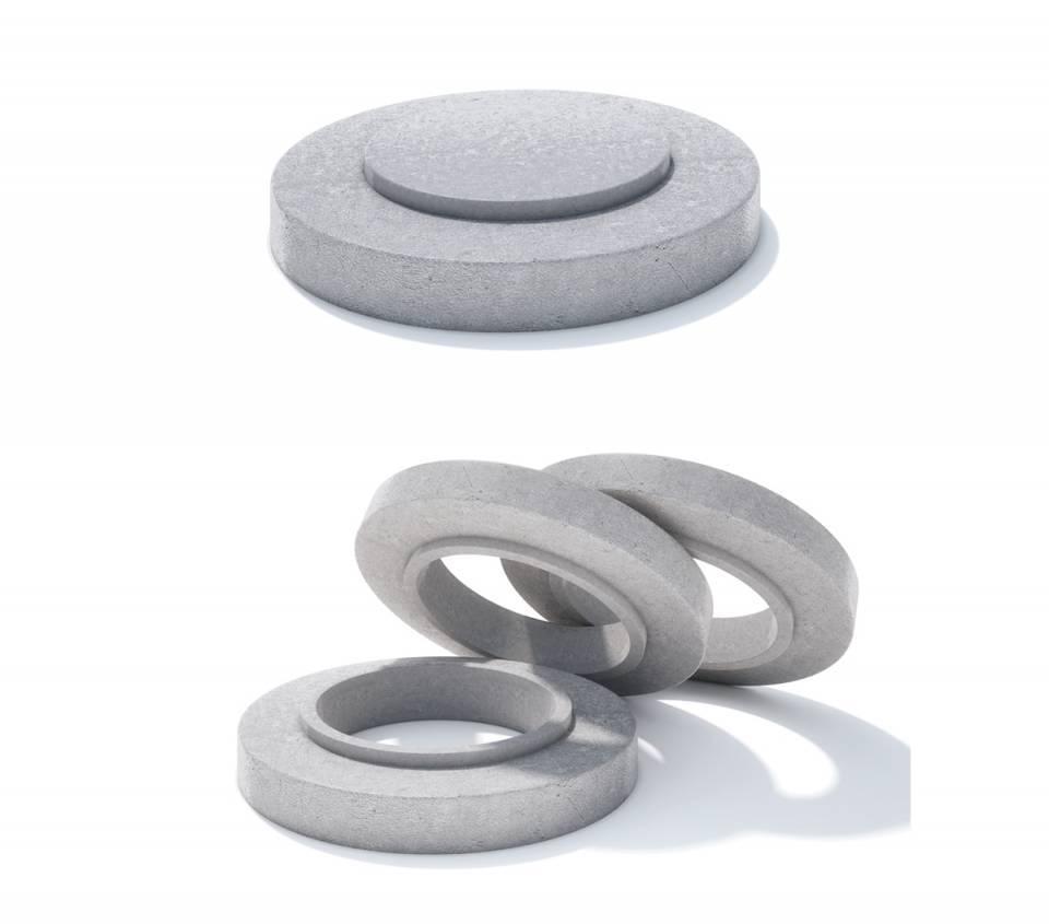 Rama circulara fonta + beton armat 49108
