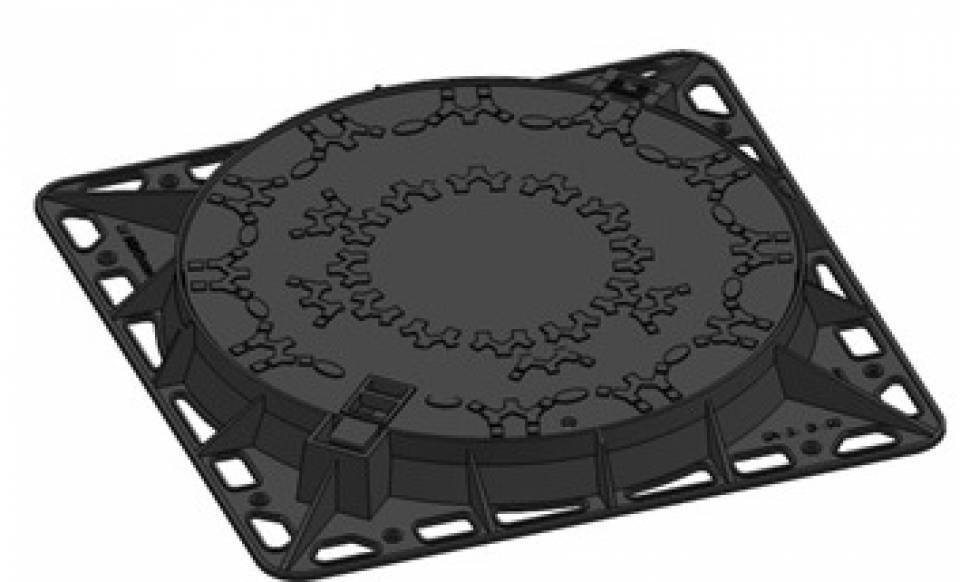 Rama si capac circular fonta Di800 400kN 52078